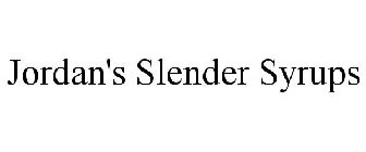 JORDAN'S SLENDER SYRUPS